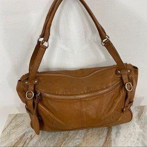 FURLA Designer Brown Soft Leather Shoulder Bag